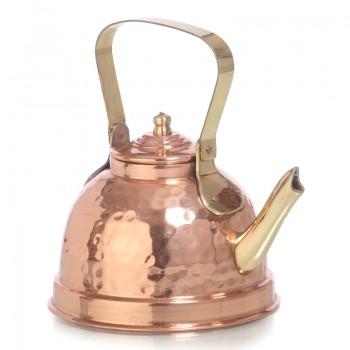 Медный заварочный чайник луженый изнутри объёмом 550-600 мл воды