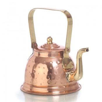 Медный  заварочный чайник объёмом 250 мл,  луженый изнутри.