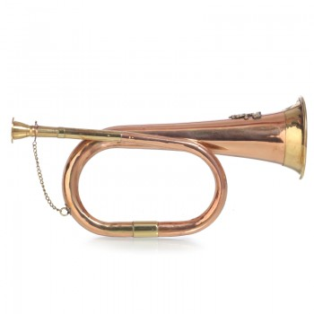 Медная сигнальная труба с гербом
