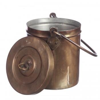 Кастрюля медня цилиндрическая для хранения  продуктов